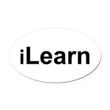 iLearn.png Oval Car Magnet