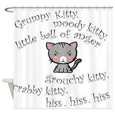 Grumpy Kitty Shower Curtain