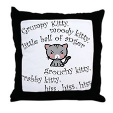Grumpy Kitty Throw Pillow