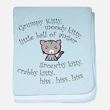 Grumpy Kitty baby blanket