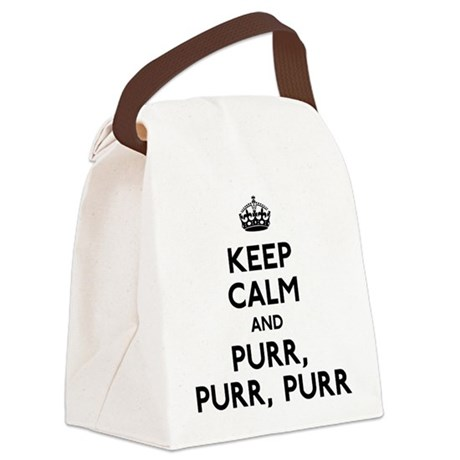 Keep Calm and Purr Purr Purr Canvas Lunch Bag