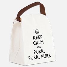 Keep Calm and Purr Purr Purr Canvas Lunch Bag