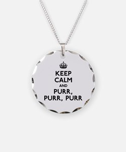 Keep Calm and Purr Purr Purr Necklace