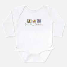 Decisions Cerveza.png Long Sleeve Infant Bodysuit