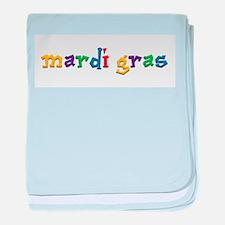 Mardi Gras.png baby blanket