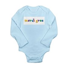 Mardi Gras.png Long Sleeve Infant Bodysuit