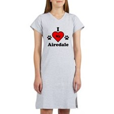 I Heart My Airedale Women's Nightshirt
