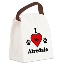 I Heart My Airedale Canvas Lunch Bag