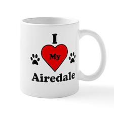 I Heart My Airedale Mug