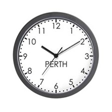 PERTH Modern Newsroom Wall Clock