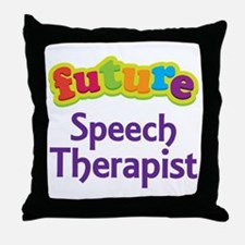 Future Speech Therapist Throw Pillow