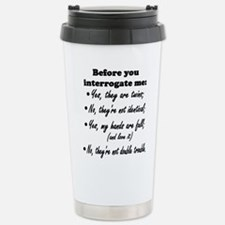 Funny Twins Travel Mug