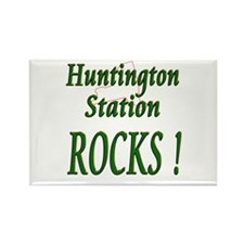 Huntington Station Rocks ! Rectangle Magnet