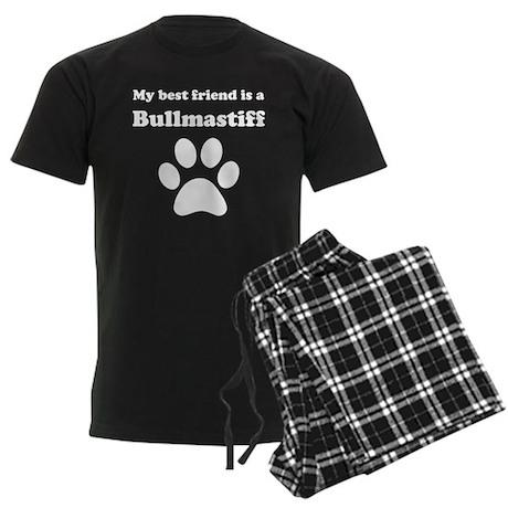 Bullmastiff Best Friend Men's Dark Pajamas