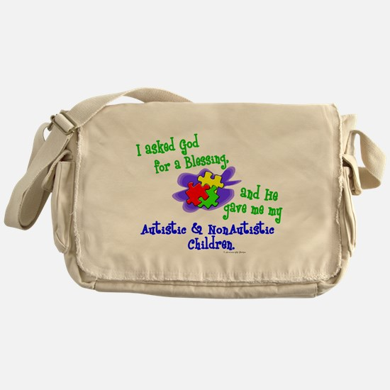 Cute My brothers love me Messenger Bag