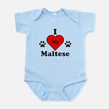 I Heart My Maltese Infant Bodysuit