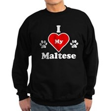 I Heart My Maltese Sweatshirt