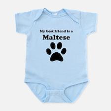 Maltese Best Friend Infant Bodysuit