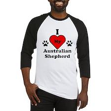 I Heart My Australian Shepherd Baseball Jersey