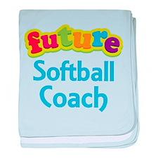 Future Softball Coach baby blanket