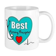 Best Nursing Preceptor blue Mugs