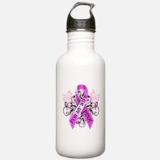 I Wear Pink for my Wife Water Bottle