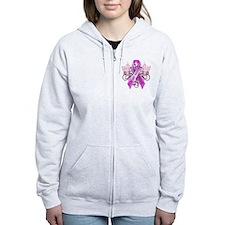 I Wear Pink for my Sister Zip Hoodie