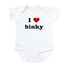I Love binky Infant Bodysuit