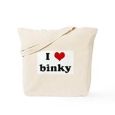 I Love binky Tote Bag