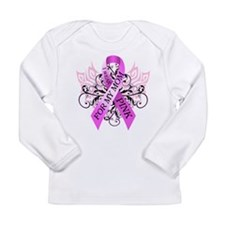 I Wear Pink for my Mom Long Sleeve Infant T-Shirt