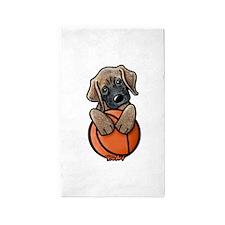 Basketball Mastiff Puppy 3'x5' Area Rug
