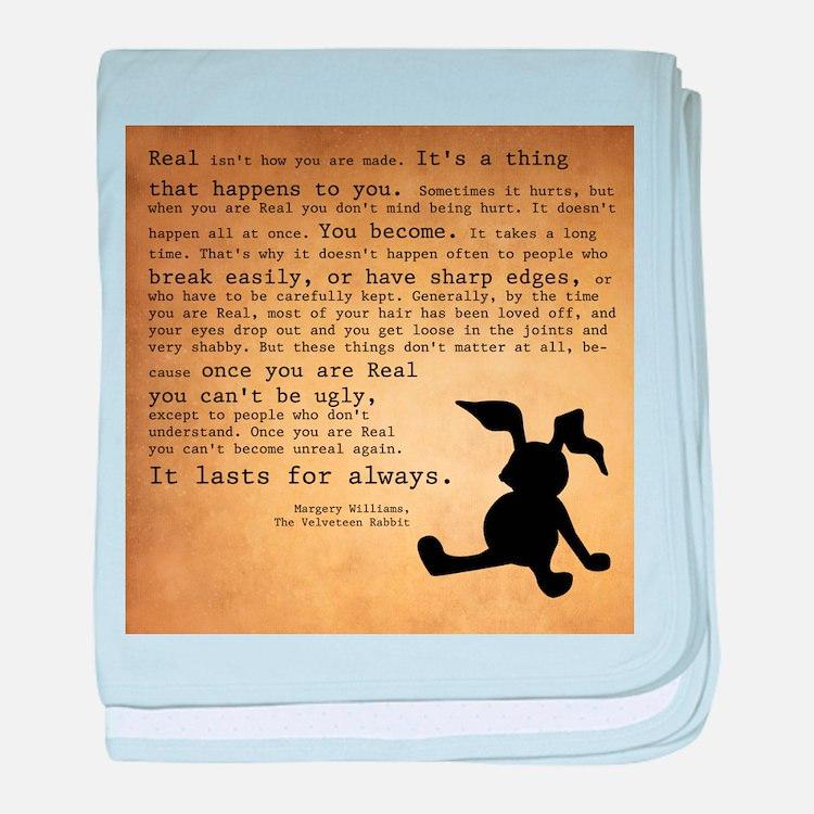 Velveteen Rabbit Print baby blanket