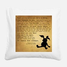 Velveteen Rabbit Print Square Canvas Pillow