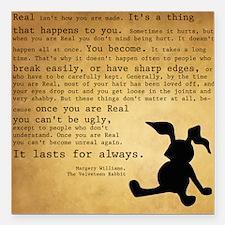 """Velveteen Rabbit Print Square Car Magnet 3"""" x 3"""""""