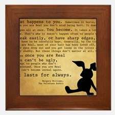 Velveteen Rabbit Print Framed Tile