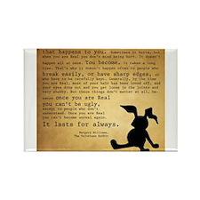 Velveteen Rabbit Print Rectangle Magnet