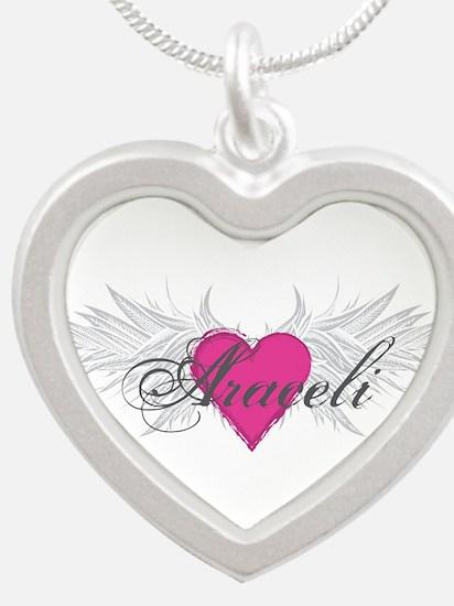 My Sweet Angel Araceli Silver Heart Necklace