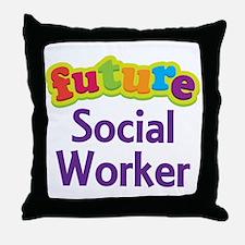 Future Social Worker Throw Pillow