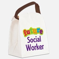 Future Social Worker Canvas Lunch Bag