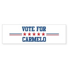Vote for CARMELO Bumper Bumper Sticker