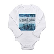 Pride and Prejudice Quote Long Sleeve Infant Bodys
