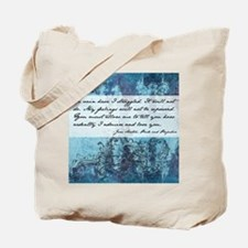 Pride and Prejudice Quote Tote Bag