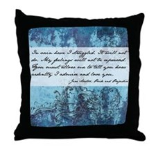 Pride and Prejudice Quote Throw Pillow