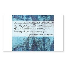 Pride and Prejudice Quote Decal