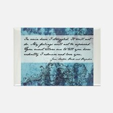 Pride and Prejudice Quote Rectangle Magnet