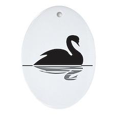 Black Swan Ornament (Oval)