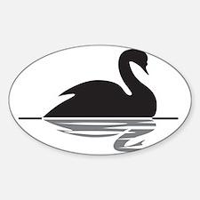 Black Swan Sticker (Oval)