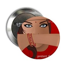 """Protect the Women of India 2.25"""" Button"""
