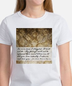 Pride and Prejudice Quote Women's T-Shirt