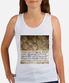 Pride and Prejudice Quote Women's Tank Top